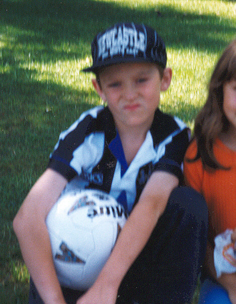 Me aged 8 in my first Newcastle shirt
