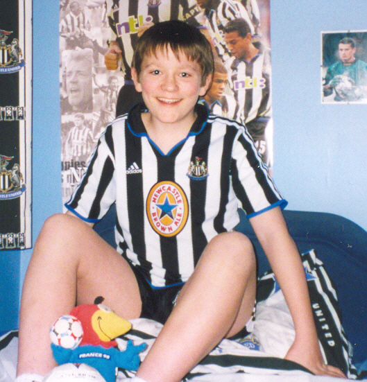 Me aged 12 in my bedroom