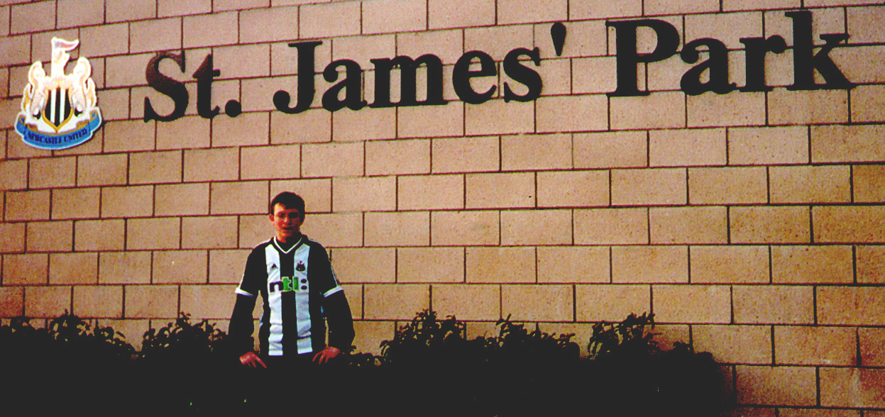 Me at St James' Park in February 2002