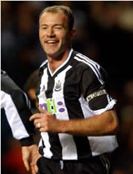 Alan Shearer netted a hat-trick against Hartlepool