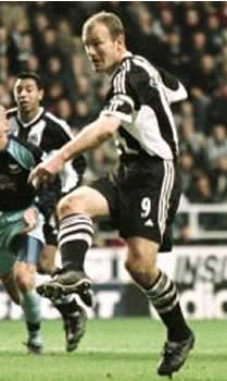 Alan Shearer bagged a brace against the Germans
