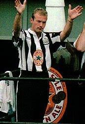 Shearer just after signing for Newcastle for £15m